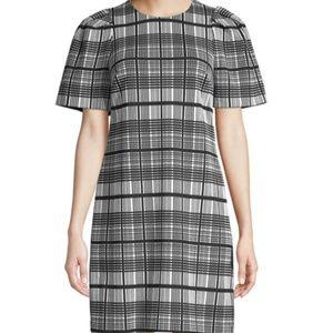 Dresses & Skirts - Plaid Puff Shoulder Shift Dress